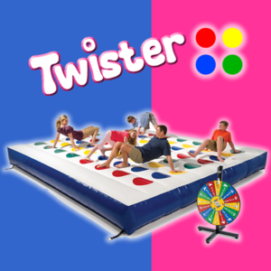 Jeu Twister gonflable